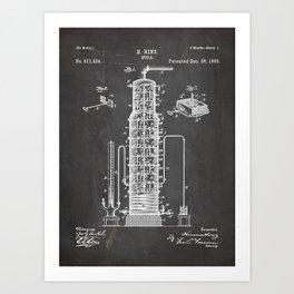 Whisky Patent - Whisky Still Art - Black Chalkboard Art Print