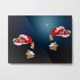 Santa Gift Pack Metal Print