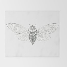cicada Throw Blanket