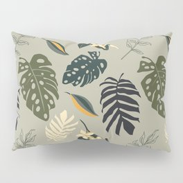Gold in the Tropical Jungle  Pillow Sham