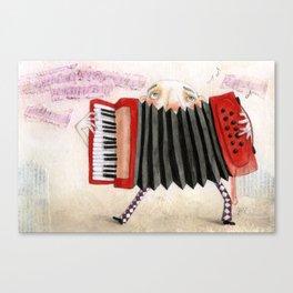 Accordion Player Canvas Print