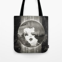 planet Tote Bags featuring Planet by Ozghoul