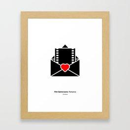 Romance Film Genre Icon Framed Art Print