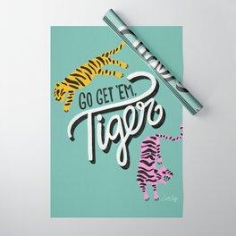 Go Get 'Em Tiger – Mint Palette Wrapping Paper