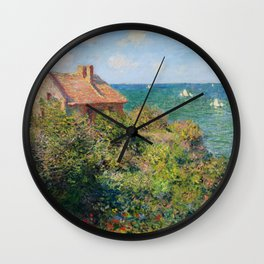 Claude Monet - Fisherman's Cottage on the Cliffs at Varengeville Wall Clock