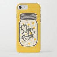 fireflies iPhone & iPod Cases featuring Fireflies by Landon Sheely