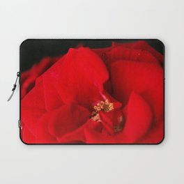 Red Rose Flower Close up Laptop Sleeve