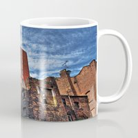 manchester Mugs featuring Colourful MANchester by inkedsandra