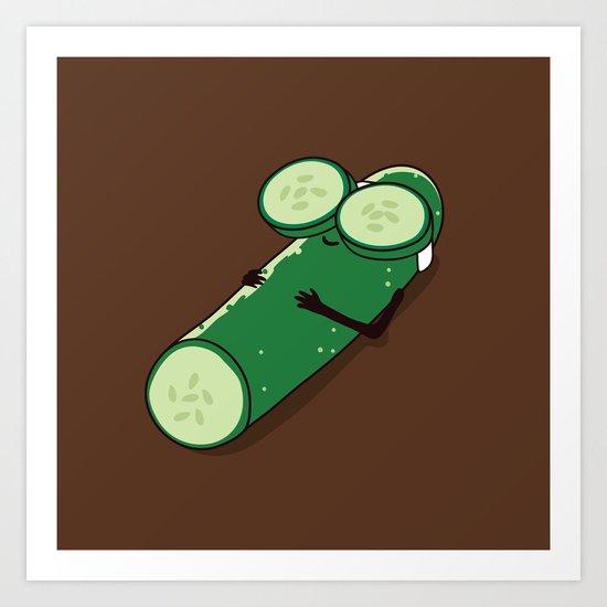 Pickle Eyes Art Print