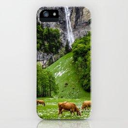 Life in Lauterbrunnen iPhone Case