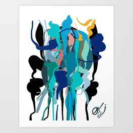 Street Art Abstract Coloured Drops Pattern Art Print