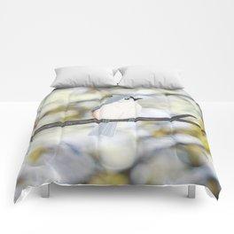 tufted titmouse - bokeh Comforters