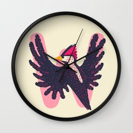 W for Woodpecker Wall Clock