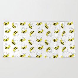 Bumble Bee Pattern Beach Towel