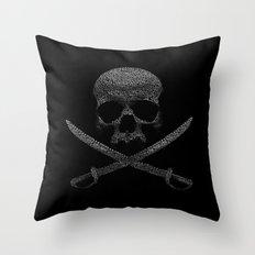 Type Pirate Throw Pillow
