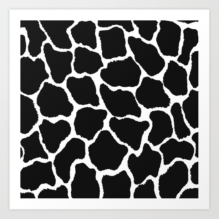 Trendy Modern Black White Giraffe Animal Print Art Print By Eclectic Art Society6