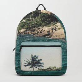Lost Paradise Off the Coast of Ilha Grande, Brazil Backpack