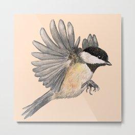 Chickadees Metal Print