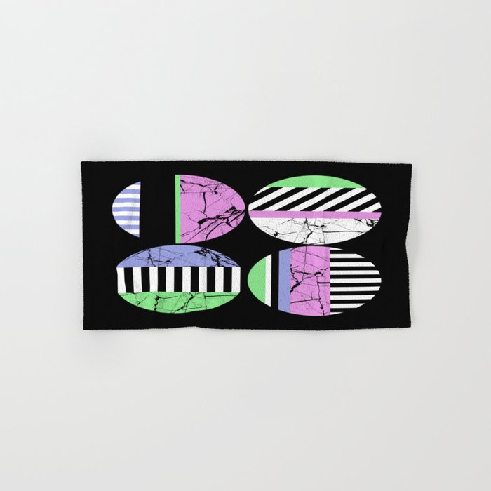 AMPS Uno - Abstract Marble Pastel Stripes Hand & Bath Towel
