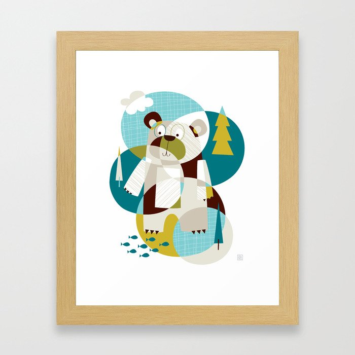 Bear Beware Framed Art Print
