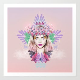 Bohem Collage Art Print