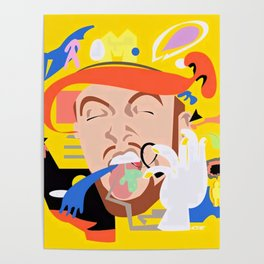 MAC MILLER---Face Art Poster