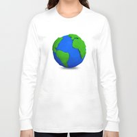globe Long Sleeve T-shirts featuring Globe by Tassos Kotsiras