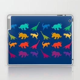 Dino Parade in Navy Blue Laptop & iPad Skin