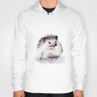 hedgehog Hoodies featuring Hedgehog by Bridget Davidson