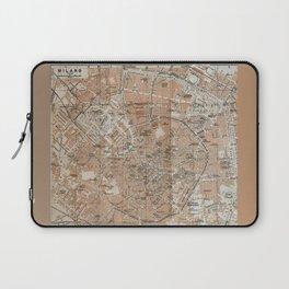 Milan, Italy / Milano, Italia antique map Laptop Sleeve