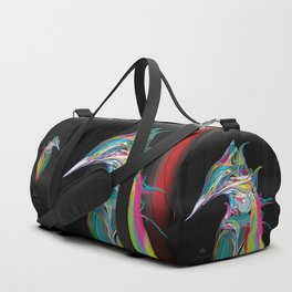 Kingfisher 1f. Full color on black background - (Red eyes series) Duffle Bag