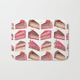 Cake Slices – Pink & Brown Palette Bath Mat