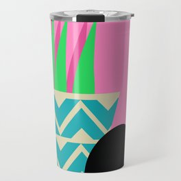 Cat and potted plant Travel Mug