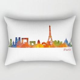 Paris City Skyline Hq v1 Rectangular Pillow