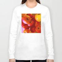 apple Long Sleeve T-shirts featuring Apple by Mr and Mrs Quirynen