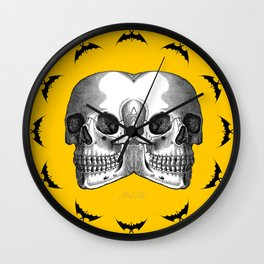 Double Trouble /YELLOW Wall Clock