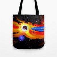 spaceship Tote Bags featuring Spaceship by JT Digital Art