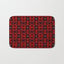 Red Gothic Bath Mat