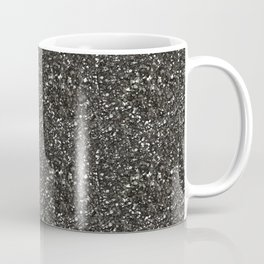Gray Hematite Close-Up Crystal Coffee Mug