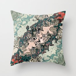 Colorful Textures Pattern 1 Throw Pillow