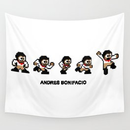 8-bit Andres 5 pose v1 Wall Tapestry