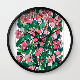 """Capacity""/Lathyrus odoratus - part of the Bell Jar series Wall Clock"