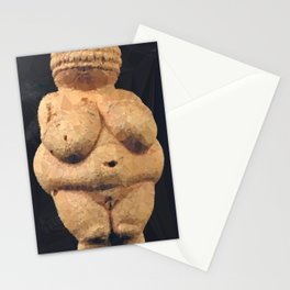 Venus of Willendorf Neolithic Fertility Goddess Low Poly Geometric Stationery Cards