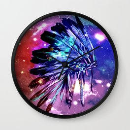 galaxy space headdress Wall Clock
