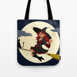Friendly halloween witch Tote Bag