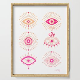 Evil Eyes – Pink Ombré Palette Serving Tray