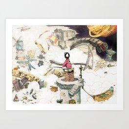 Dream Fishing Art Print