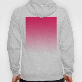 Modern bright simple neon pink white color ombre gradient Hoody