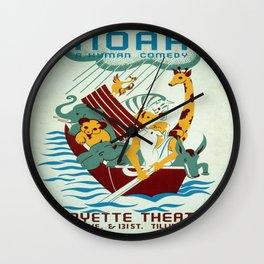 Vintage poster - Noah's Ark Wall Clock