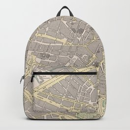 Vintage Map of Brussels Belgium (1901) Backpack